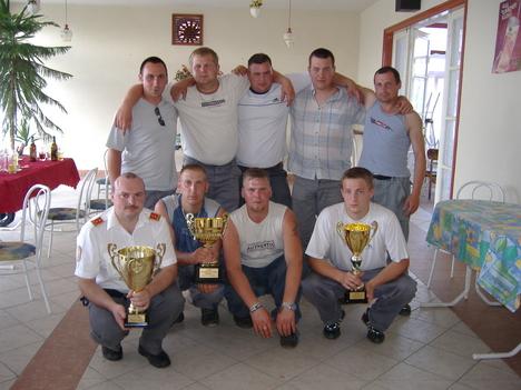 A győztes tüzoltó csapat