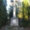 Az 1848-49-es emlékkereszt a templomkertben