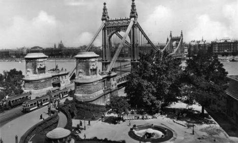Régi, megsemmisített Erzsébet híd