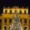 Karácsonyfa a kastély előtt