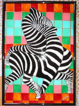 Zebras by Vasarely