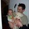 Szabó Bence apukájával várta a Mikulást
