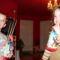Szigethy Attila és Fannika az ajándékokkal