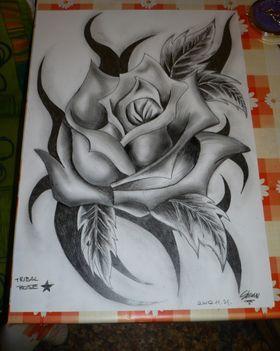 Tribal Rózsa