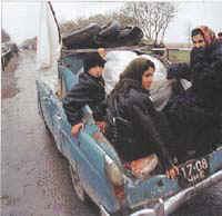 menekülő csecsenek 2000 körül