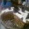 Palacsinta torta felvágva