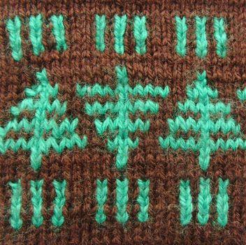 Kézimunkasuli - fenyőfás norvég minta