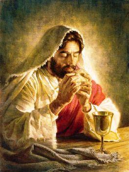 Imátkozik Jézus.