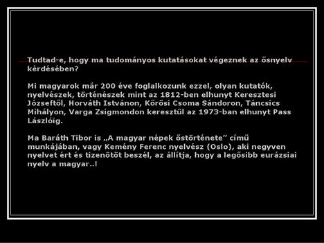 érdekességek a magyar nyelvről 23