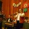 Dobó István a klarinétos és háttérben  a zenekar.