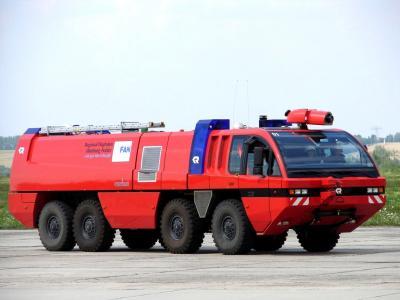 MAN Rosenbauer Panther tűzoltóautó testvért kaptak a ferihegyi tűzoltókocsik