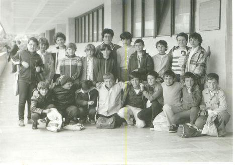 5. osztályosok Szombathelyen a képtárnál
