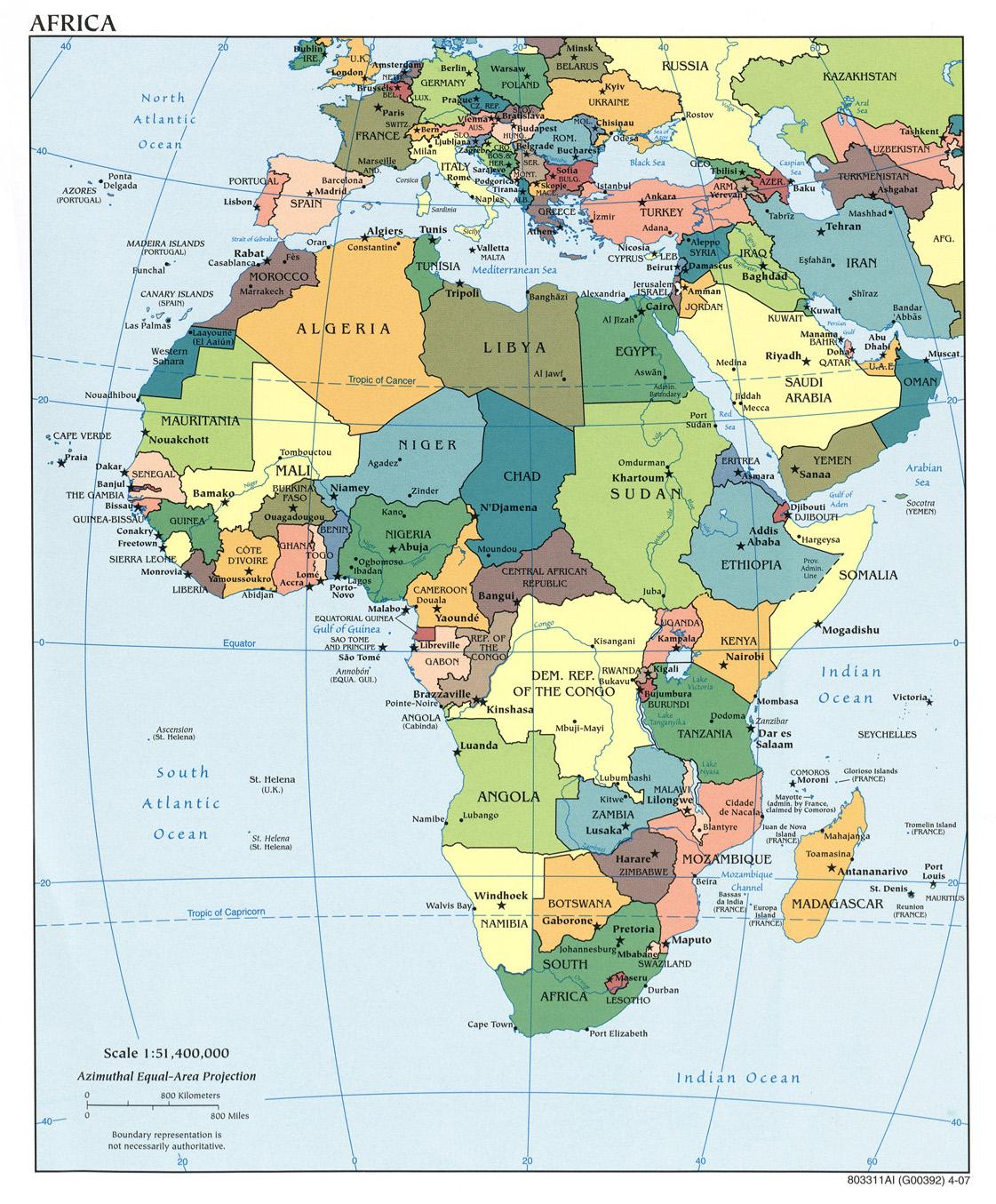 térkép afrika Térkép: Afrika politikai térképe (kép) térkép afrika