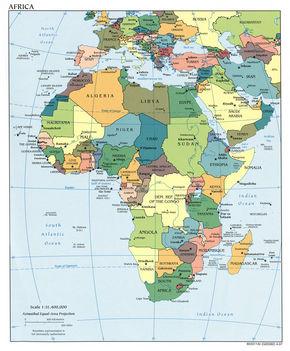 Afrika politikai térképe