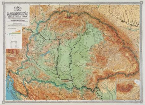 Kárpát medence nagyfelbontású térképe