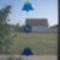 kék díszem