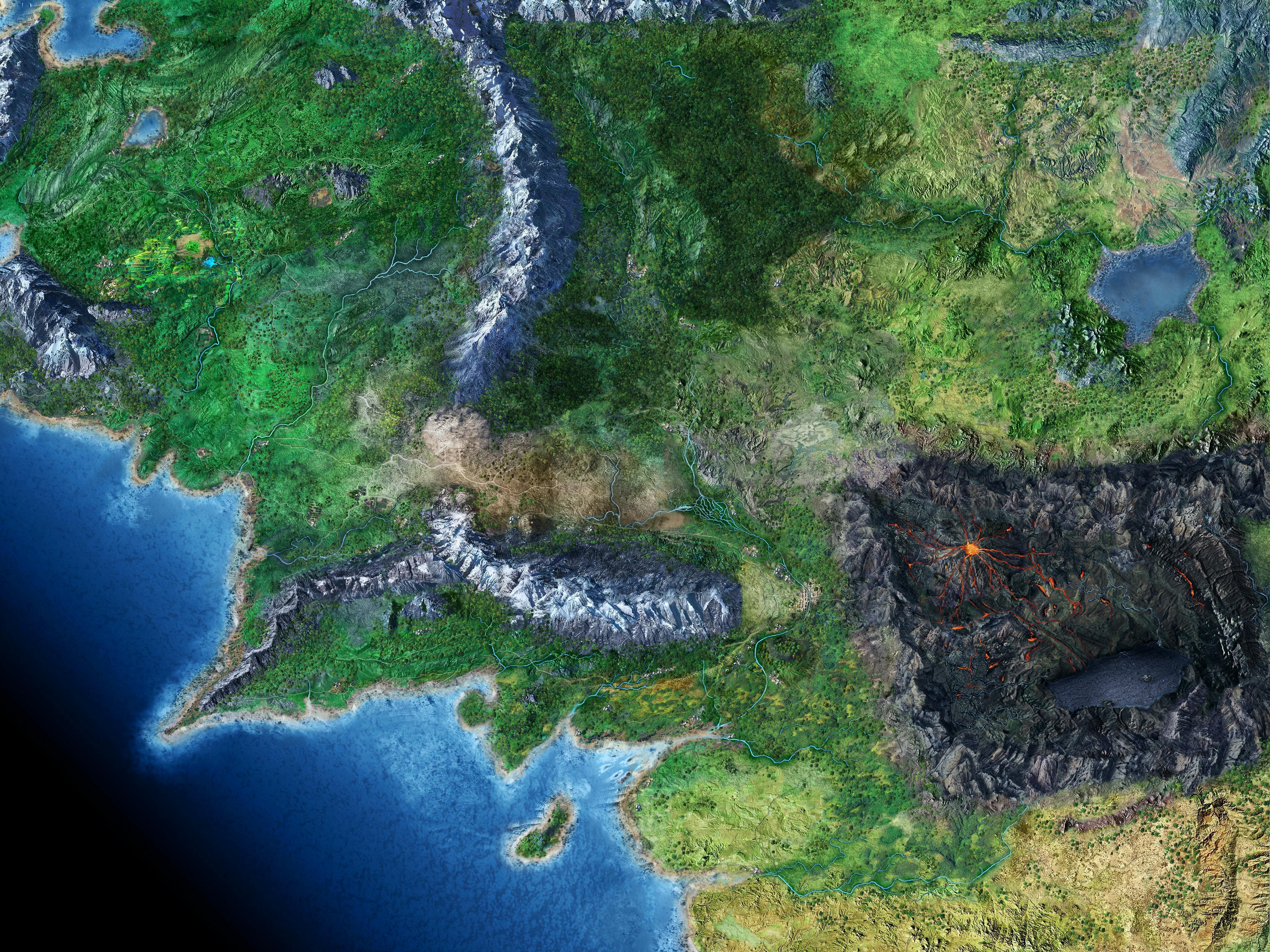 középfölde térkép Térkép: Középfölde térképe (kép) középfölde térkép