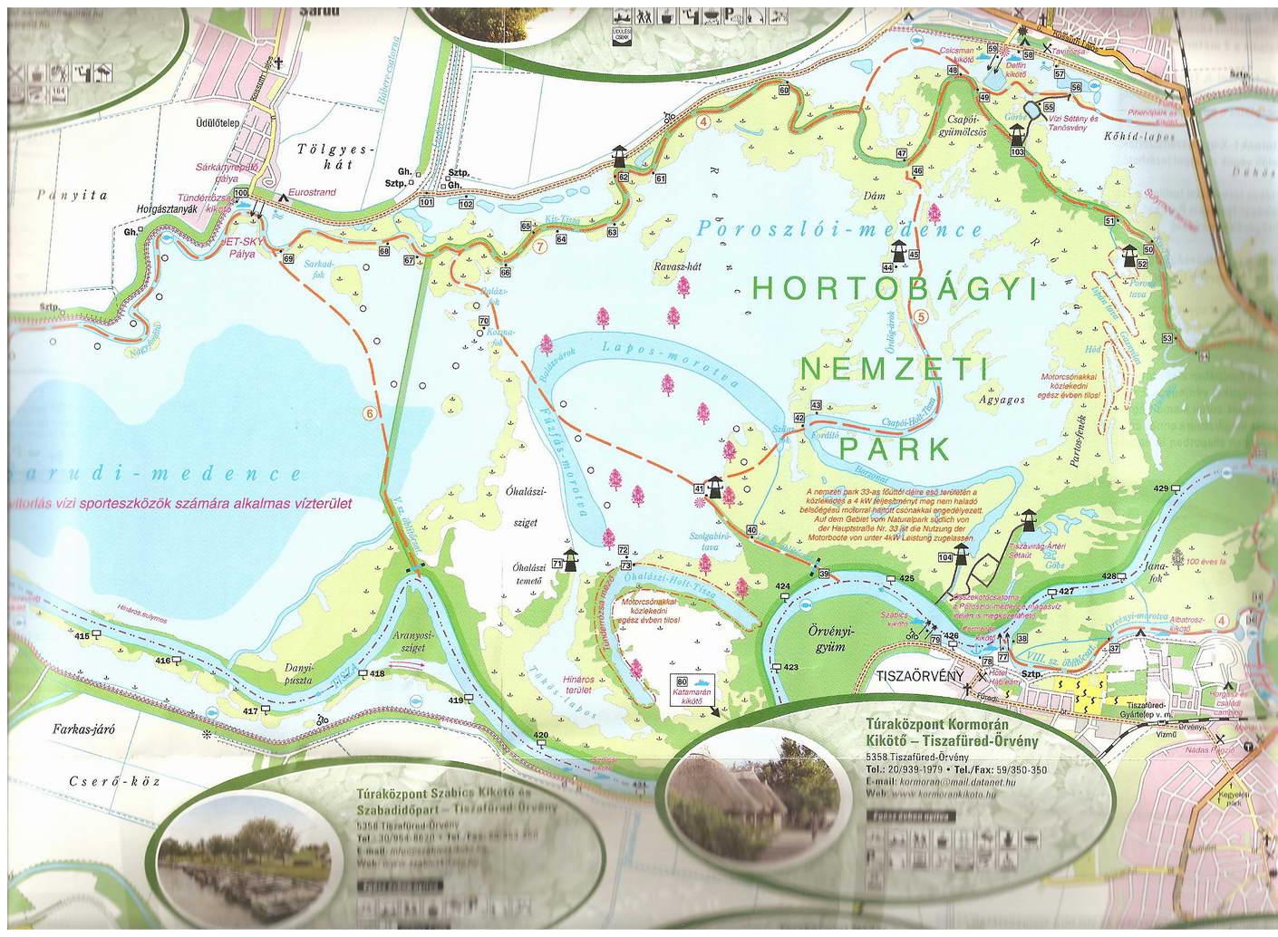 tisza tó térkép Térkép: Tisza tó túrista térképe (kép) tisza tó térkép