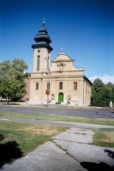 Jézus szíve katolikus templom a város központjában