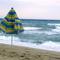 szélben, tenger, napernyő