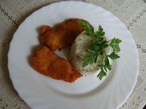 DSC04256 Rántott Pangasius filé fűszeres rizzsel