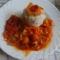 DSC06976Lecsós virsli zöldfűszeres rizzsel