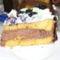 Egy szelet szeder csokoládés torta
