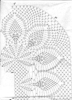 ovális melírozott teríto mintája