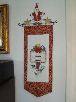 Karácsonyi névre szóló banner a családnak
