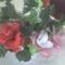 Harisnya rózsa,PET palackból készült asztali disz