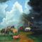 festményeim. Vihar a Hortobágyon