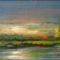 festményeim 2: Naplemente a tónál