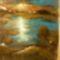 festményeim 9: Faház a tónál