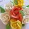 Vegyes színű rózsa csokor