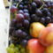 Piros szőlő almával2