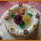 Rózsákkal díszített túró torta