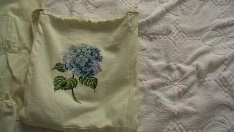 hortenziás táska