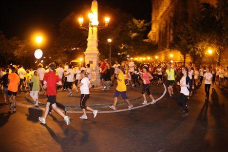 2011 EDF  közös futás hangulata