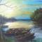 festményeim 4 :Csónakok a Tiszán