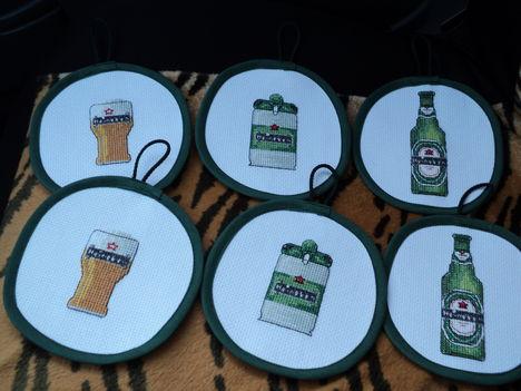 Heineken poháralátét szett