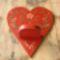Piros szív-mécses