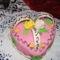 Valentin napi szív torta puncsos csoki krémmel