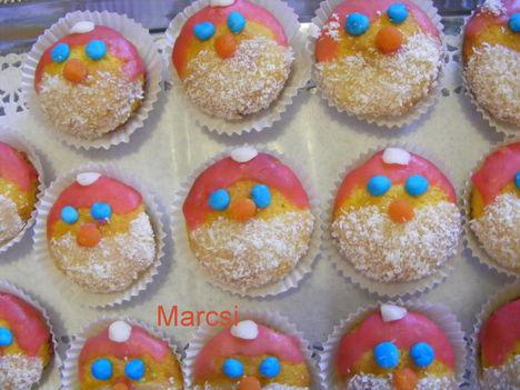 Télapó muffin