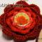 Horgolt Ír rózsa medál