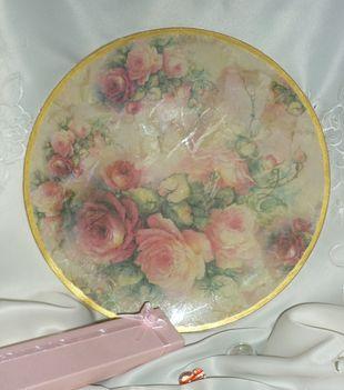 Rózsás üveg tányer