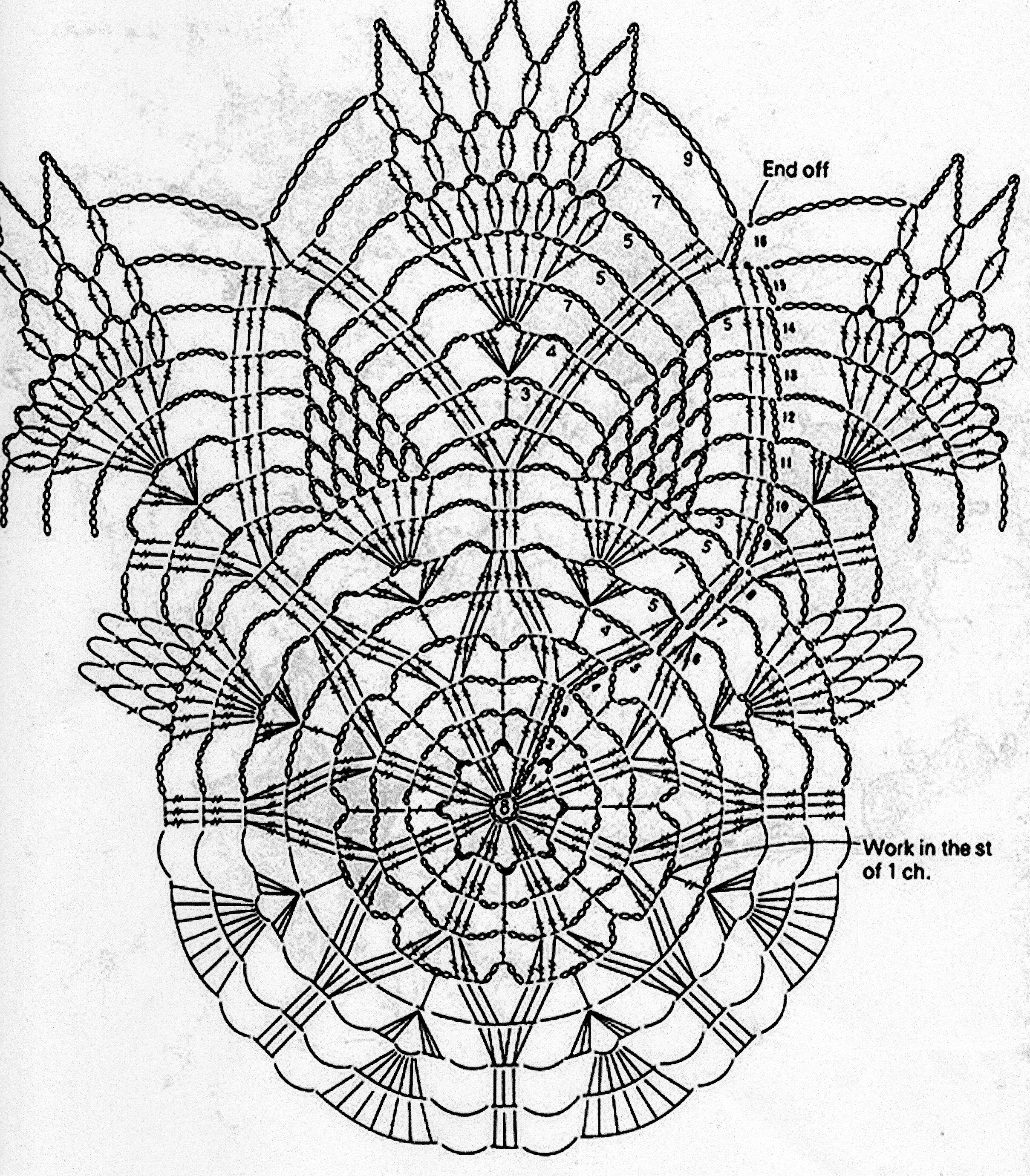 Crochet Pineapple Doilies Diagram Best Secret Wiring Diagrams For Stitch Patterns Pinterest Stars On Doily Filet