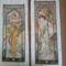 Alfons Mucha: Nappali ragyogás és Esti merengés c. képei x-szemesben. Jó sokat melóztam velük :D /~286 és ~ 220 órát/