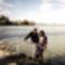 én és élettársam Balaton partján