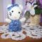 Kitty cica kék ruhában :)