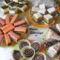 Vegyes sütemények puncsos szelet